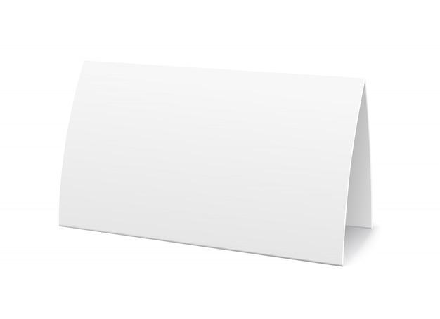 Tarjeta de mesa de papel, plantilla de signo