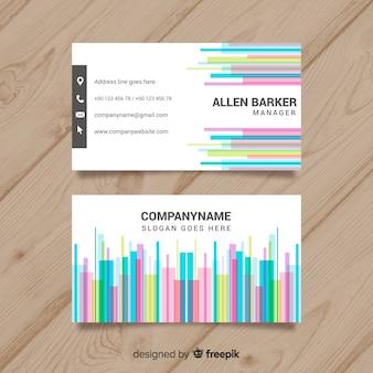 Tarjeta moderna de negocios con diseño abstracto