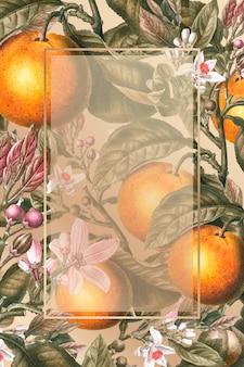Tarjeta naranja enmarcada