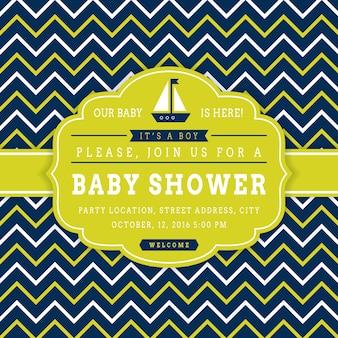 Tarjeta náutica de baby shower.
