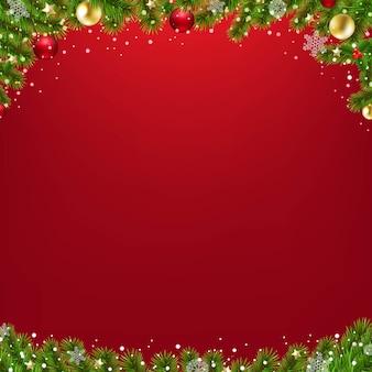 Tarjeta de navidad con árbol de navidad
