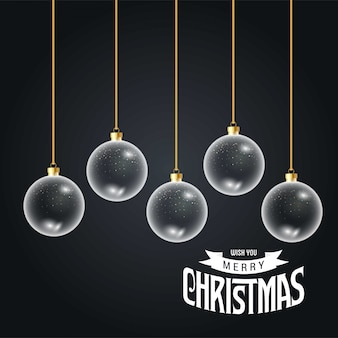 Tarjeta de navidad de diseño elegante.