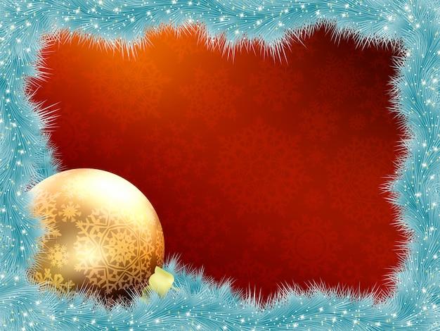 Tarjeta de navidad elegante.