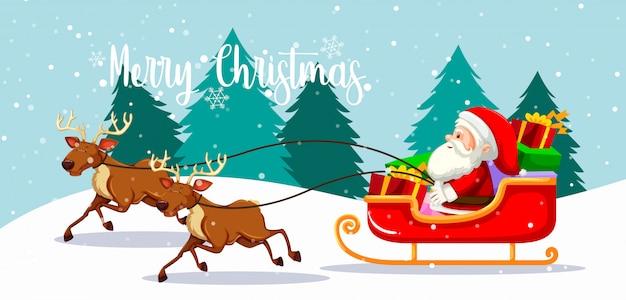 Tarjeta de navidad feliz santa