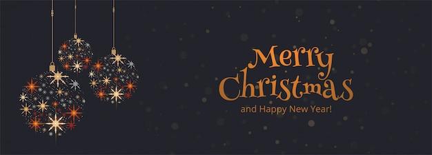 Tarjeta de navidad de vacaciones hermoso banner