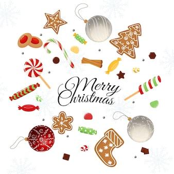 Tarjeta navideña con deseos