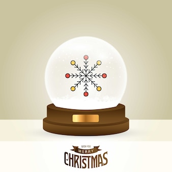 Tarjeta navideña con diseño creativo elegante.