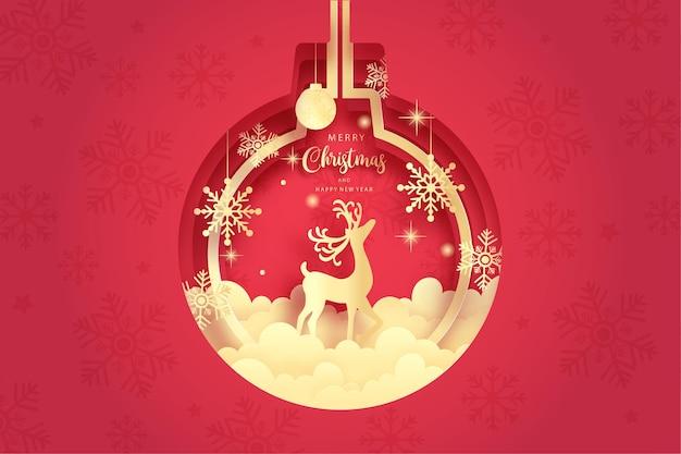 Tarjeta navideña con renos