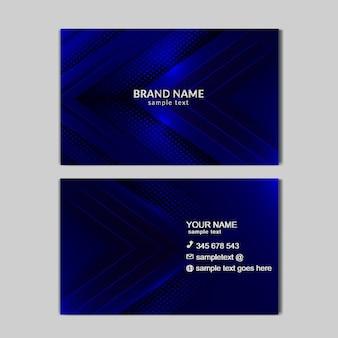 Tarjeta de negocios azul claro abstracta de lujo