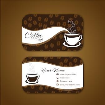 Tarjeta de negocios con diseño de café