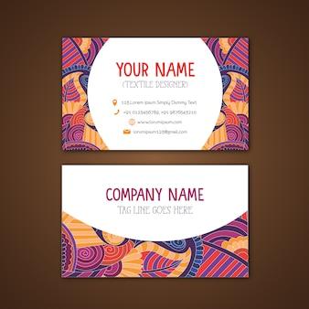 Tarjeta de negocios con diseño multicolor