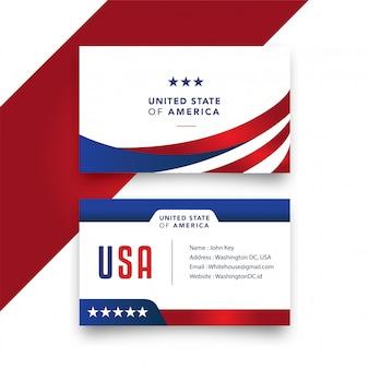 Tarjeta de negocios estadounidense