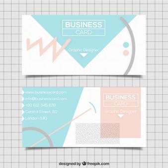 Tarjeta de negocios con formas abstractas en tonos suaves