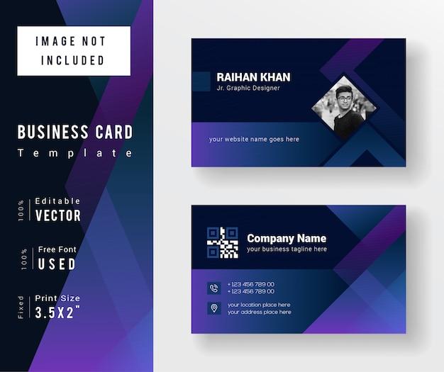 Tarjeta de negocios gradiente creativo abstracto