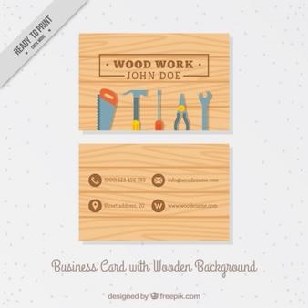 Tarjeta de negocios con herramientas de carpinteria