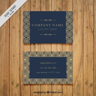 Tarjeta de negocios ornamental y vintage