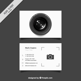 Tarjeta original de estudio de foto