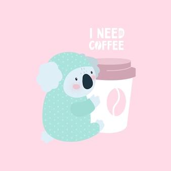 Tarjeta de oso koala