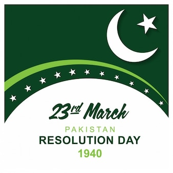 Tarjeta de pakistán día resolución