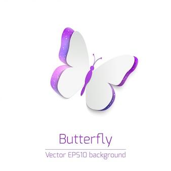 Tarjeta de papel mariposa