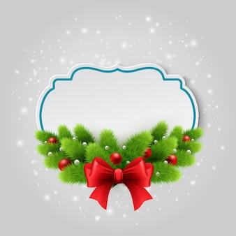 Tarjeta de papel de navidad. fondo de invierno