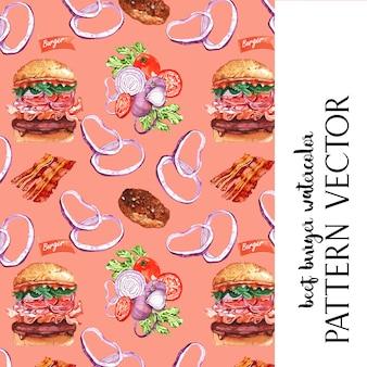 Tarjeta de patrón de restaurante de comida rápida