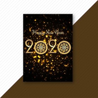 Tarjeta de plantilla creativa 2020 feliz año nuevo