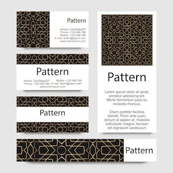Tarjeta de plantilla con el patrón sin costuras.