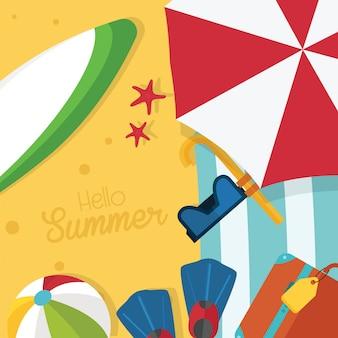 Tarjeta de playa de verano