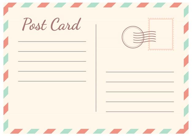 Tarjeta postal aislada en blanco