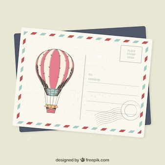 Tarjeta postal en estilo vintage