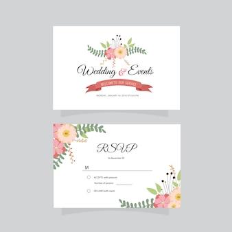 Tarjeta de presentación de bodas y eventos