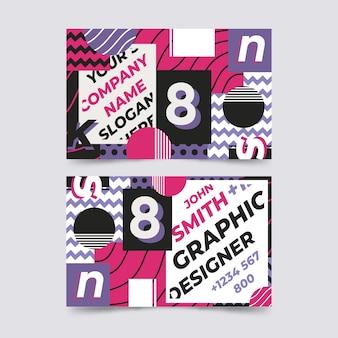 Tarjeta de presentación creativa de diseño gráfico