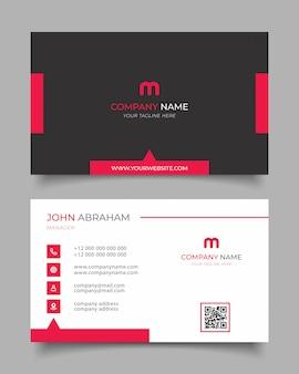 Tarjeta de presentación moderna creativa y tarjeta de visita