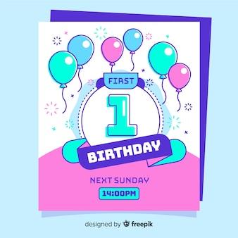 Tarjeta primer cumpleaños