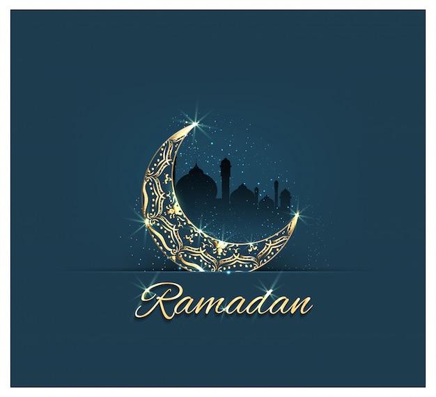 Tarjeta de ramadan kareem