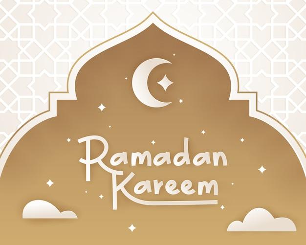 Tarjeta de ramadán kareem