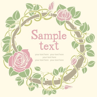 Tarjeta redonda rosa de la flor