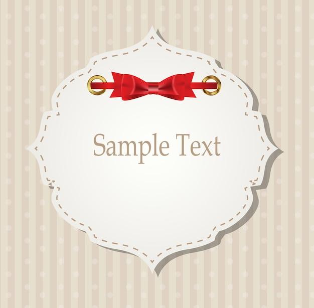 Tarjeta de regalo con cintas, elementos de diseño. ilustración vectorial eps10 Vector Premium