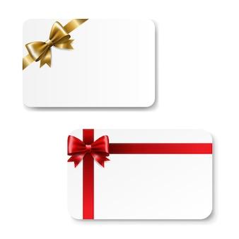Tarjeta de regalo color bow