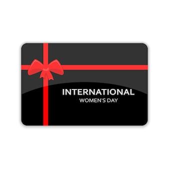 Tarjeta regalo para el día de la mujer 8 de marzo