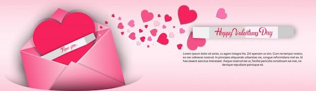 Tarjeta de regalo para el día de san valentín en forma de corazón con amor
