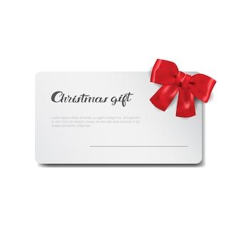 Tarjeta de regalo de navidad