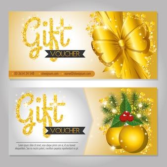 Tarjeta de regalo de regalo de navidad