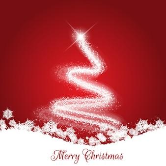 Tarjeta roja y blanca de navidad