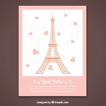 Tarjeta romántica de parís