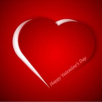 Tarjeta de san valentín con un corazón en color rojo