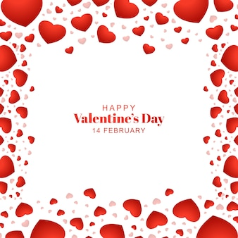 Tarjeta de san valentín romántica hermosa