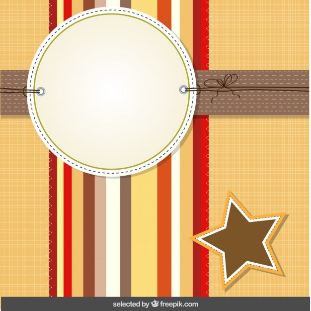 Tarjeta de scrapbooking con la estrella