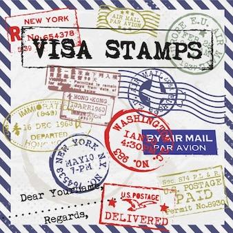 Tarjeta de sellos de visado